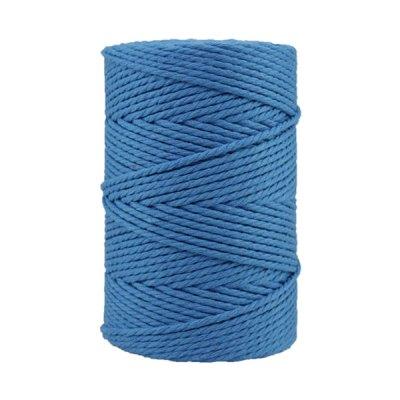 Corde macramé - Coton - Cordon - Ficelle - Fil 3 mm - Bleu azur