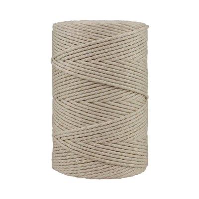Corde macramé artisanale - Coton - Cordon - Ficelle - Fil 3 mm - Blanc cassé