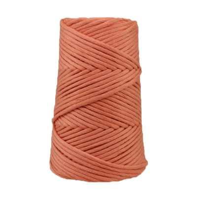 Cordon - corde - coton peigné suprême - fil de 4 mm - Saumon - macramé - crochet - tricot - tissage