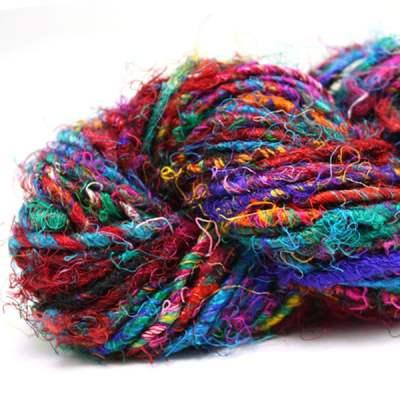 Fil de soie de sari - Multicolore
