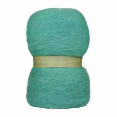 Laine cardée en nappe - Bleu turquoise