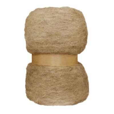 Laine cardée en nappe - Beige (nuancé)