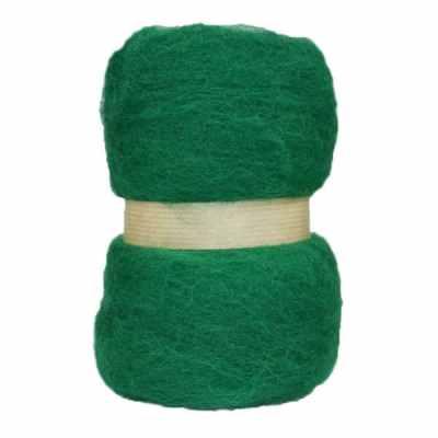 Laine cardée en nappe - Vert sapin