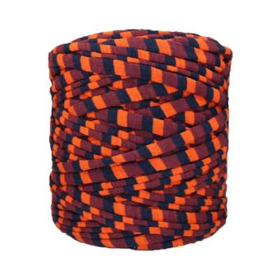 Trapilho-bobine-rayé-orange-bordeaux-noir