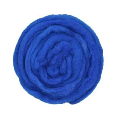 Laine cardée ruban - Bleu saphir