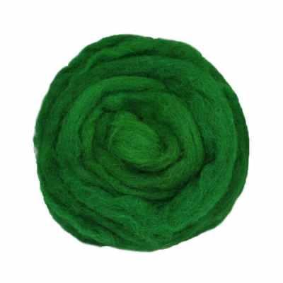 Laine cardée ruban - Vert sapin