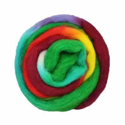 Laine cardée ruban - Multicolore