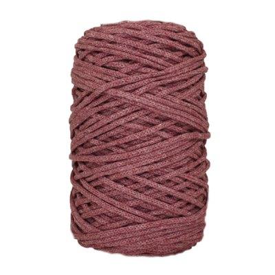 Cordon coton tressé - 3 mm - Lie de vin