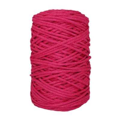 Cordon coton tressé - 3 mm - Fuchsia