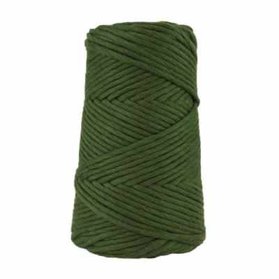Cordon - corde - coton peigné suprême - fil de 4mm - vert mélèze - macramé - crochet - tricot - tissage