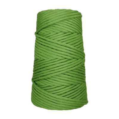 Cordon - corde - coton peigné suprême - fil de 4mm - vert pomme - macramé - crochet - tricot - tissage