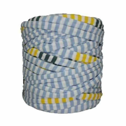 Trapilho-bobine-rayé-bleu-blanc-jaune