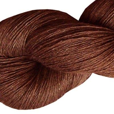 Fil de lin - Chataigne - Tricot - Crochet