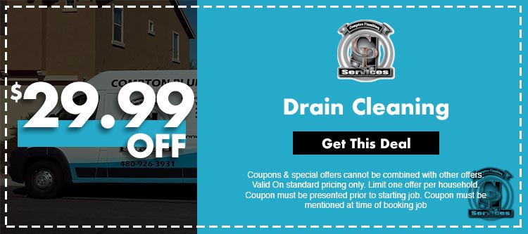 discount on drain cleaning services in Mesa, AZ