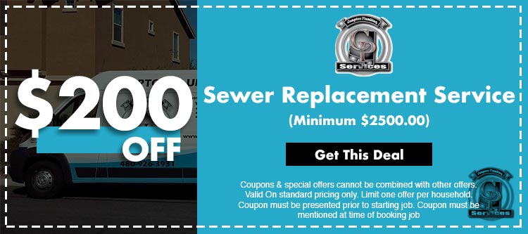 discount on sewer replacement service in Mesa, AZ