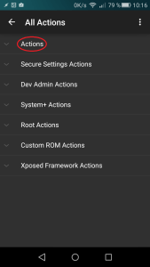 action secure settings