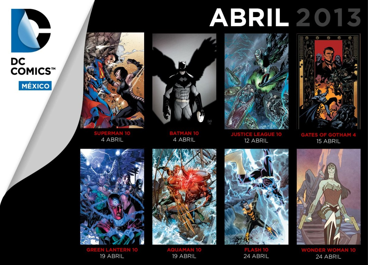 Checklist DC Comics Mexico - Editorial Televisa Abril 2013
