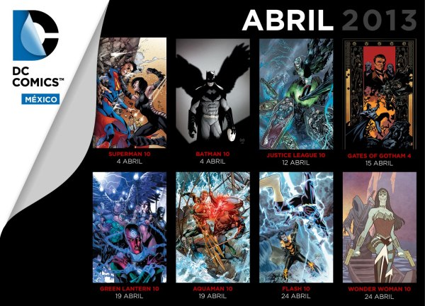 checklist dc comics mexico abril 2013