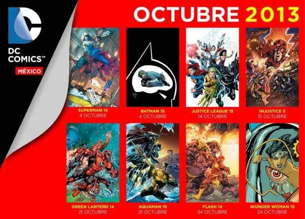 checklist dc comics mexico octubre 2013