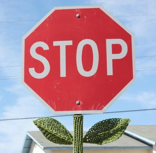 Knitted Stop Sign