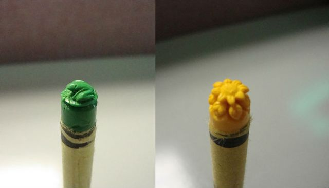 Crayon Sculpture of Frog and Flower
