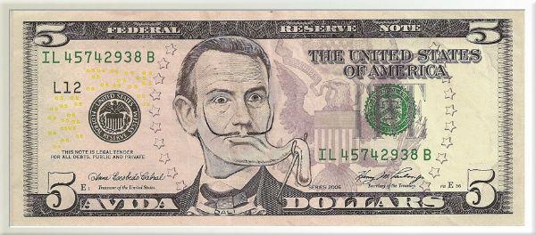 Salvador Dali $5 bill