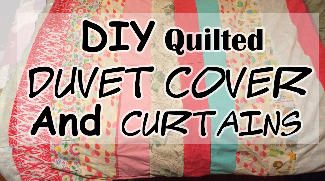DIY Quilted Duvet Cover and Curtains