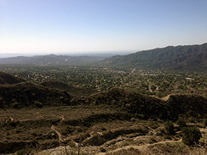 View of Glendale and the mountains from the hiking trail