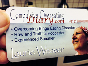 Laurie's new business card