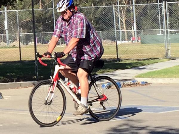 Mark on his bike