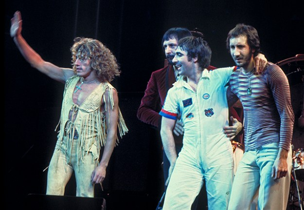 Photo of the original Who on tour 1975