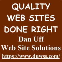Need a Web Site?  Click HERE.
