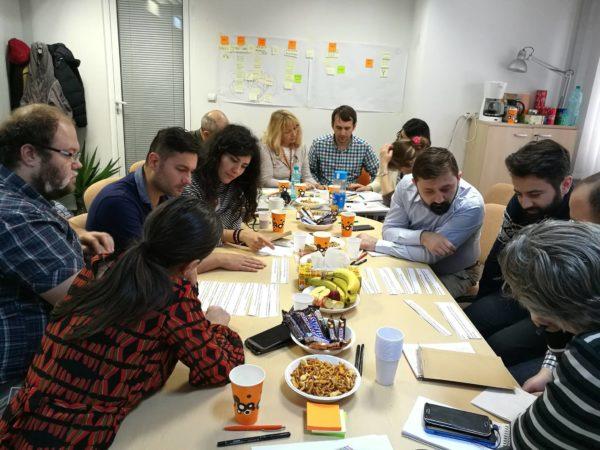 Computaris team attending Agile development workshop