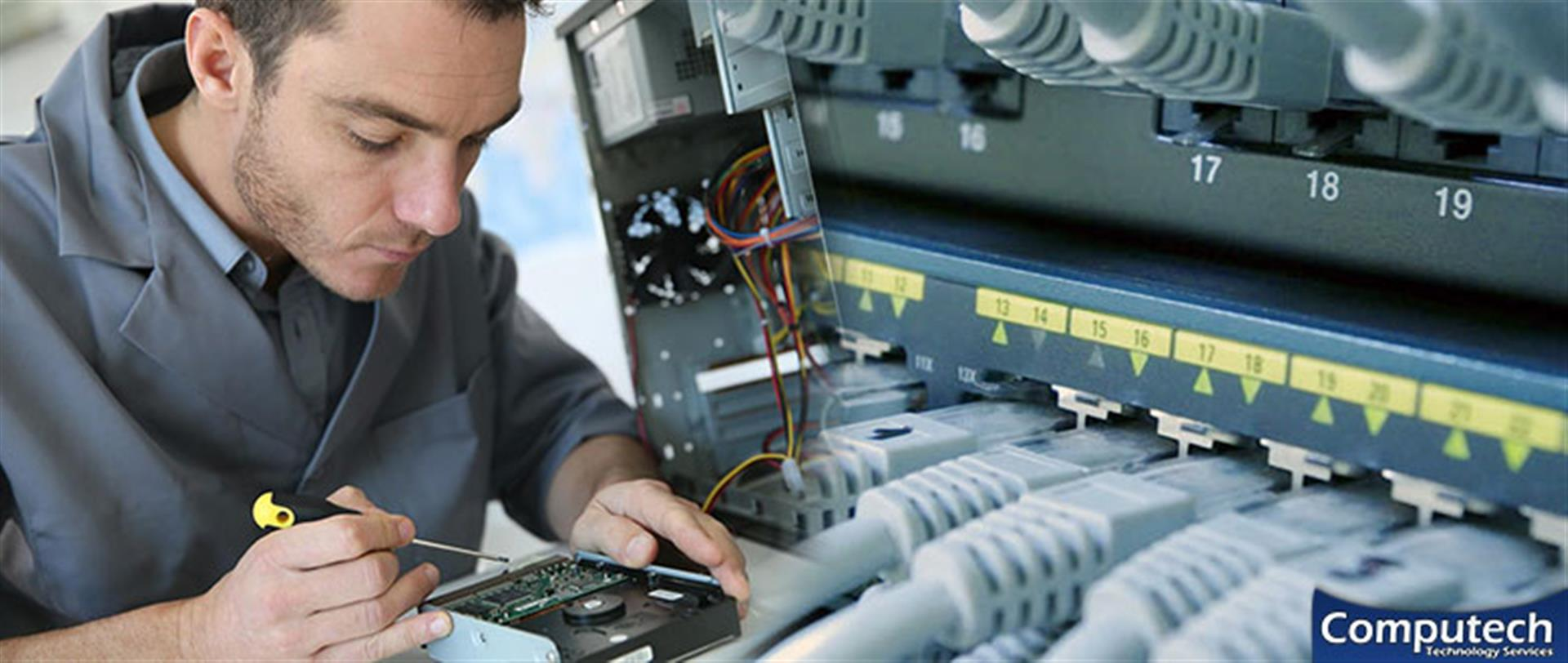 Collierville Tennessee On Site Computer PC & Printer Repair, Network, Voice & Data Cabling Services