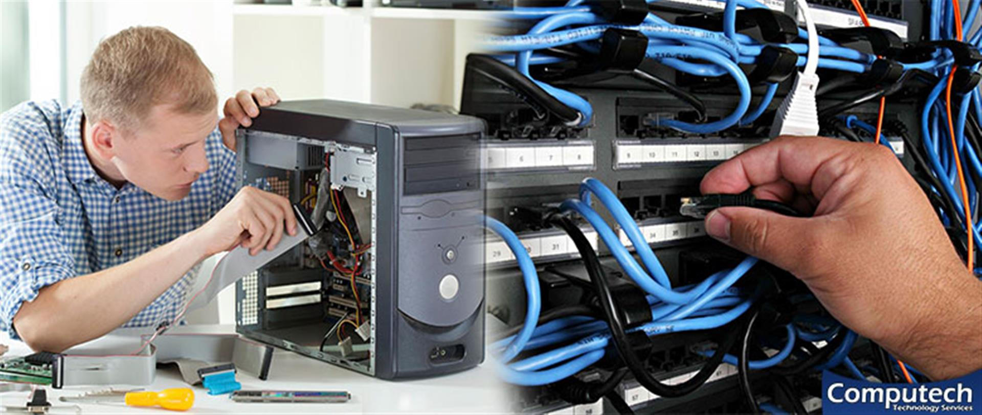 Farmville Virginia On Site Computer & Printer Repair, Network, Voice & Data Cabling Contractors