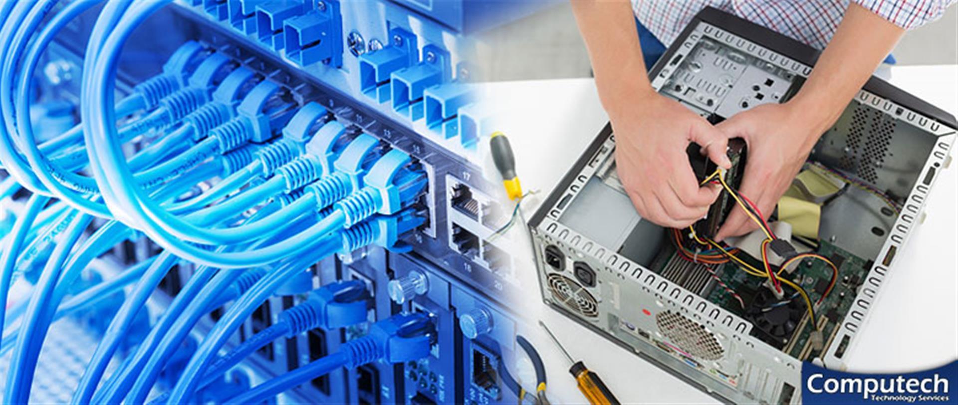 Williamsburg Virginia On Site Computer PC & Printer Repair, Network, Voice & Data Cabling Solutions