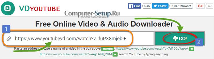 VDYOUTUBE - Descargar video agregando VD