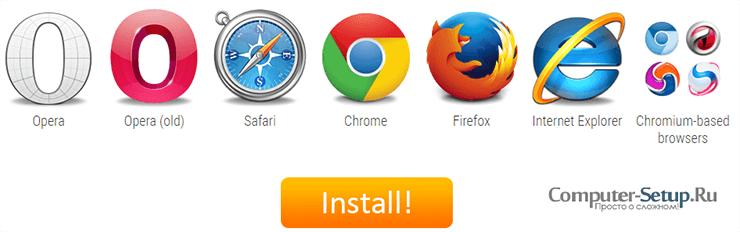 Extensiones y complementos Fastetube para su navegador
