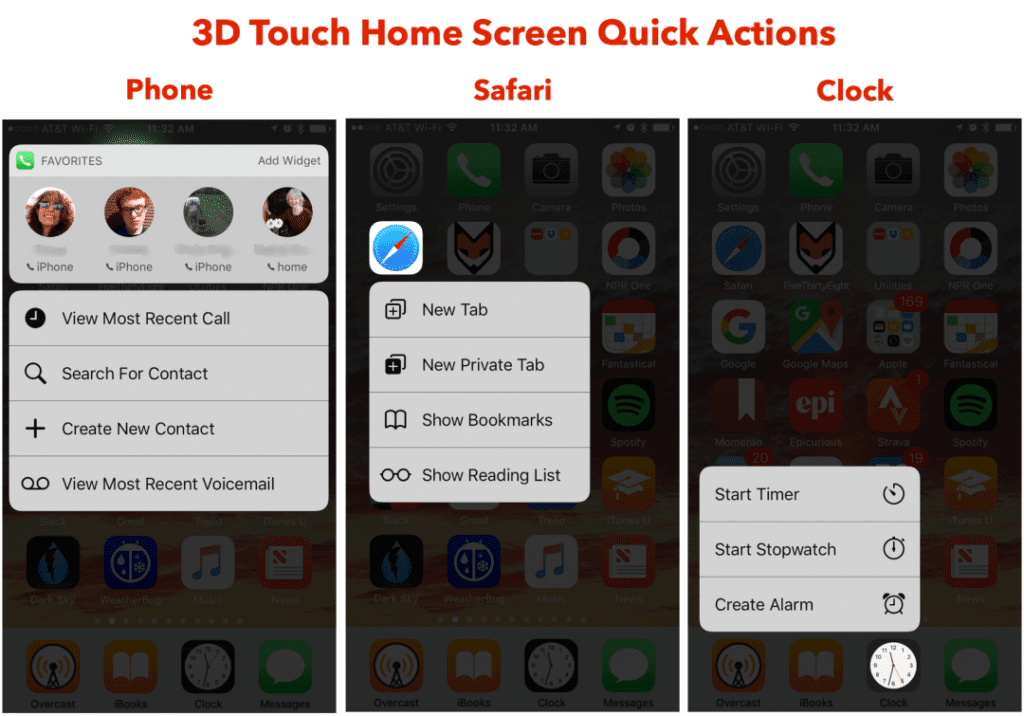 3D Touch home screen