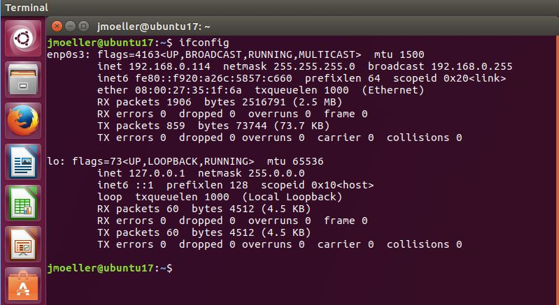 Find The IP Address From The Command Line In Ubuntu 14 04