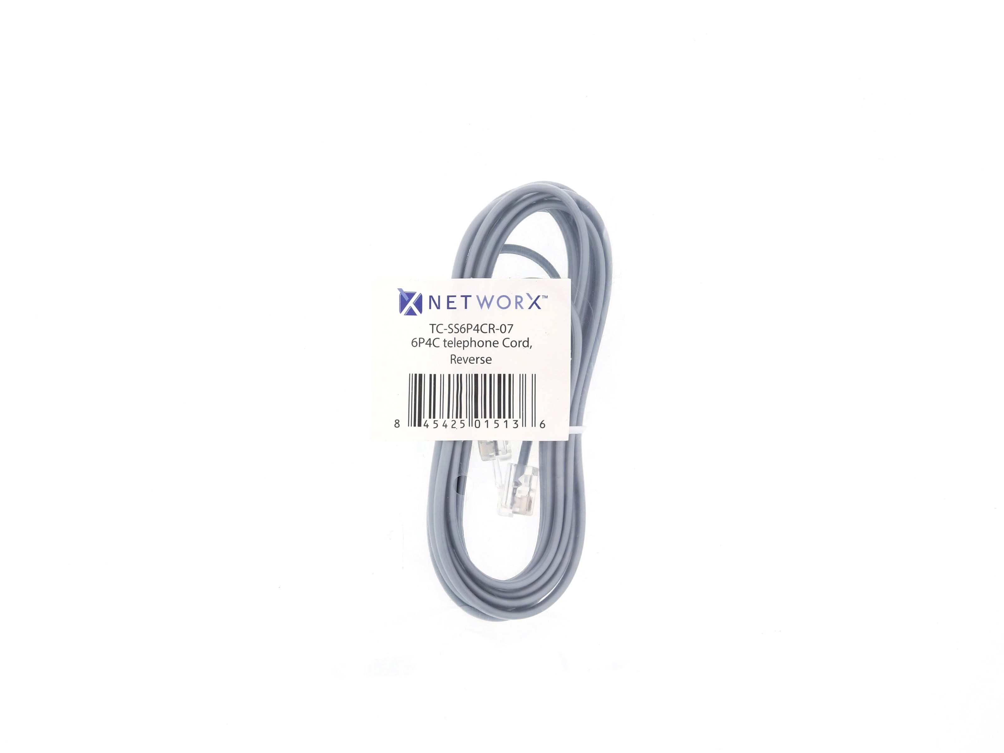 Rj11 4 Conductor Cross Wired Telephone Cable 7 Ft
