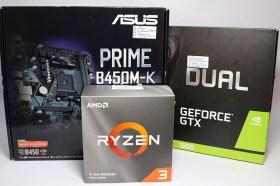 DIY小桌機經濟之選!華碩PRIME B450M-K主機板 + AMD Ryzen 3 3100 處理器效能實測