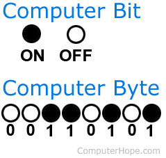 Computer bit and byte