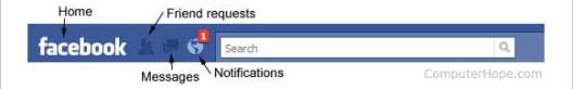 Facebook navigation