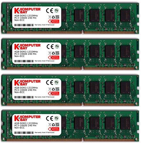 Crucial 16GB 4X4GB 2RX8 PC3-10600R DDR3 1333Mhz 240pin Memory ECC Registered