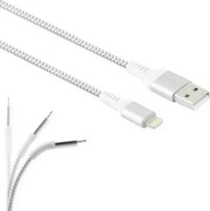 LAMTECH LIGHNING TO USB HIGH QUALITY UNBREAKABLE CABLE SILVER