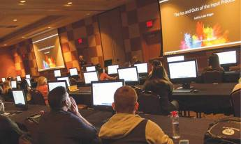 """Attendees learn the """"Ins and Outs of the Input Process"""" during one of 23 lab sessions."""