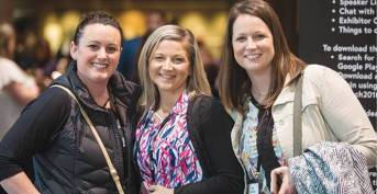 From left, Breynn Sturlaugson, Chantal Weisenburger, and Pam Thorton from Gateway Pharmacy in Bismarck, N.D.
