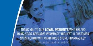 Good Neighbor Pharmacy JD Powers Customer Satisfaction Award