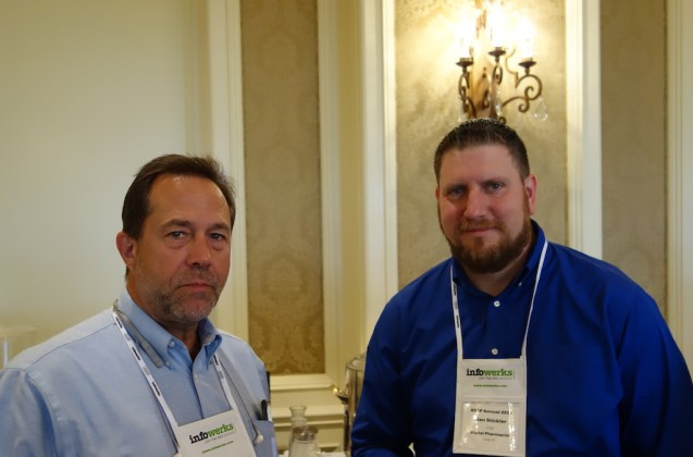 Dave Lang from Avery Weigh-Tronix, left, and Digital Pharmacist's Alan Stickler.
